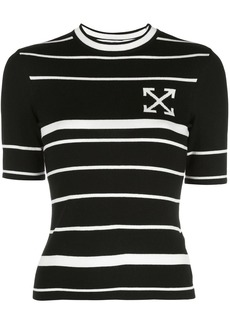 Off-White arrow striped knitted top