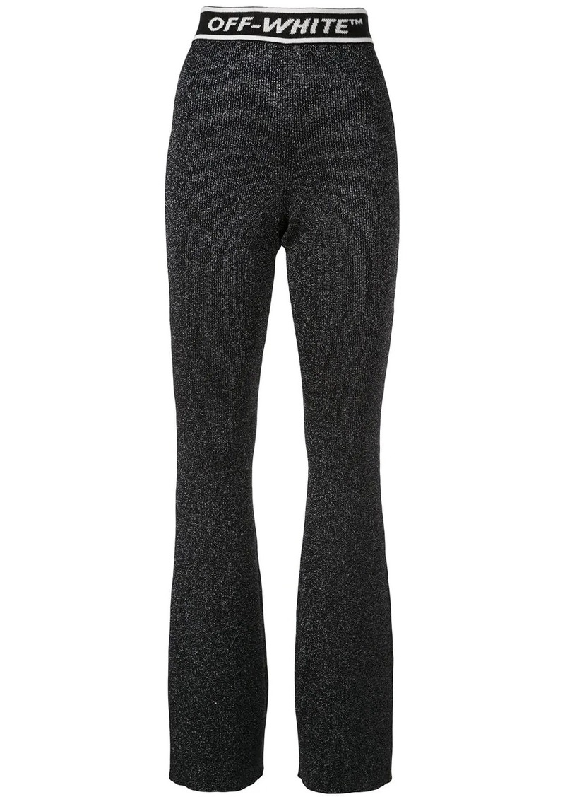 Off-White knitted high-waist flared trousers