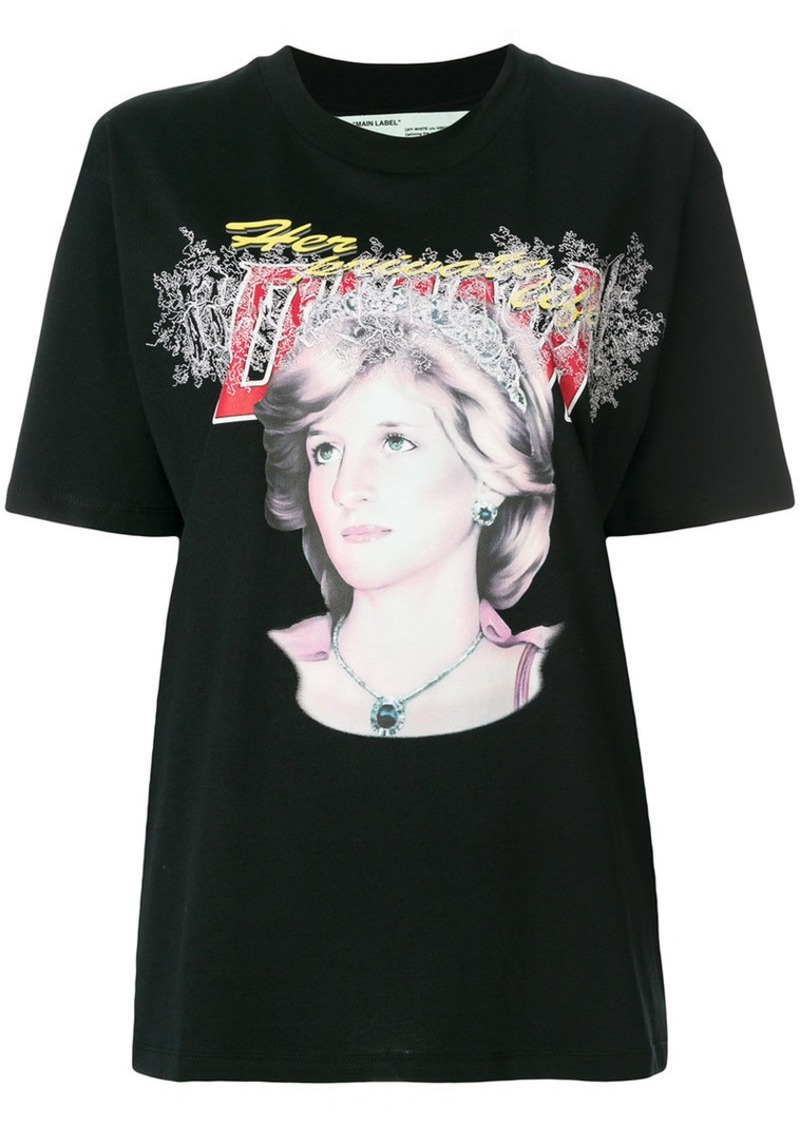 Off-White Lady Diana tribute print T-shirt
