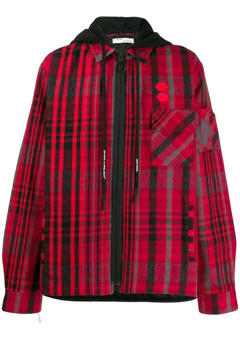 Off-White layered flannel shirt