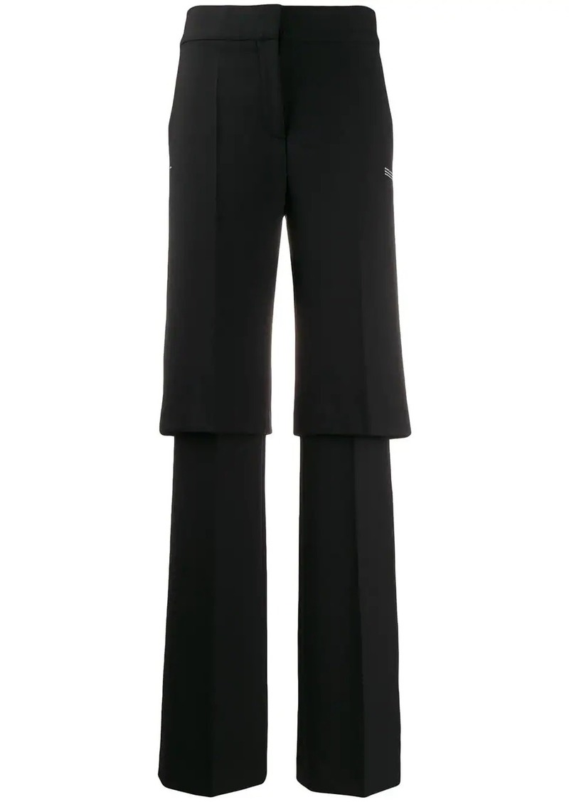 Off-White layered tailored trousers