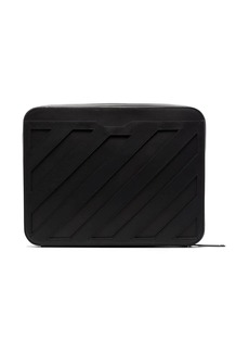 Off-White leather clutch bag