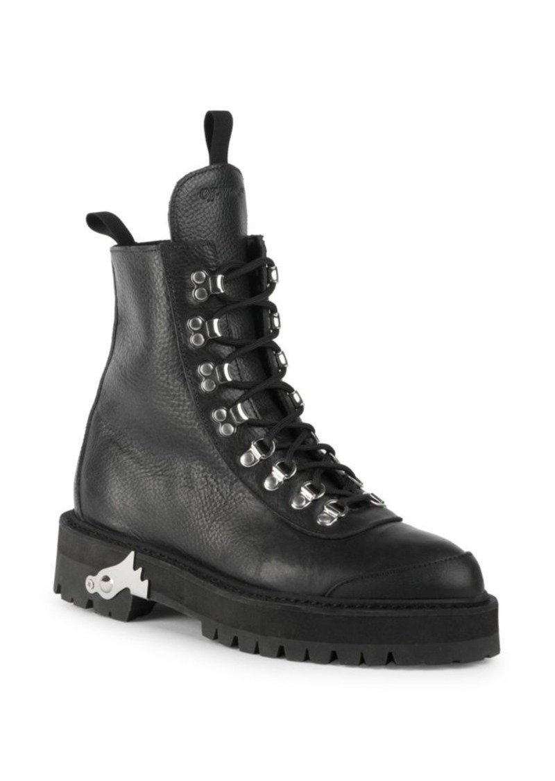 f38c417c418 Off-White Leather Hiking Boots
