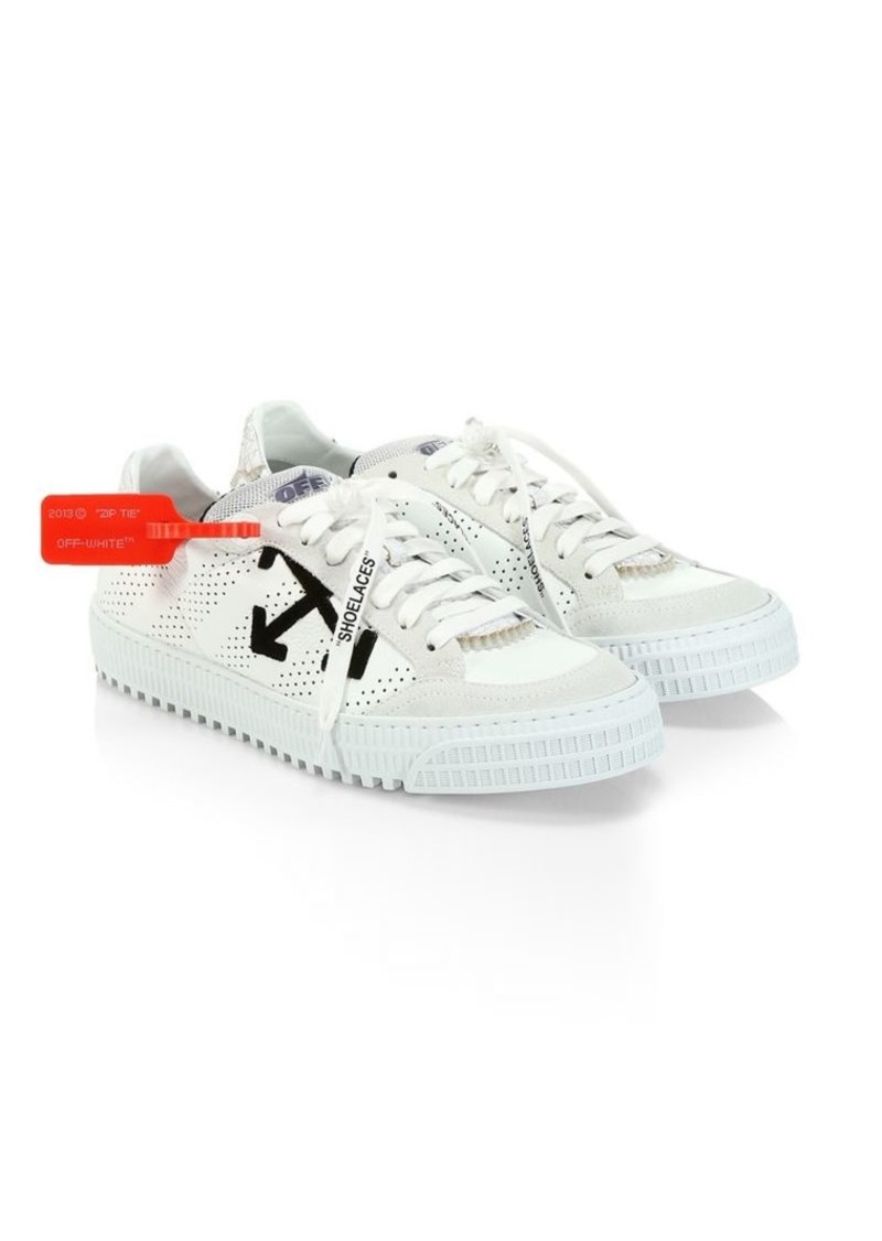Off-White Leather Polo Sneakers