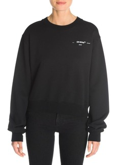 Off-White Leaves Arrows Crewneck Cropped Sweatshirt