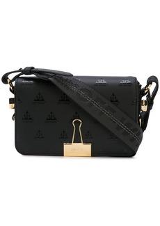 e54a8f696c43a4 Off-White Silver Mirror Flap Bag | Handbags