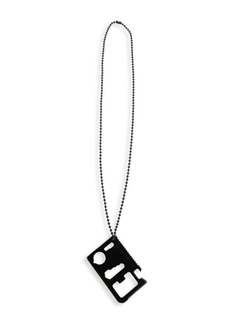 Off-White Logo Blade Pendant Necklace