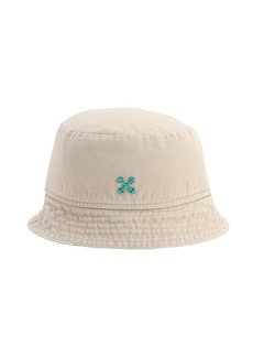 Off-White Logo Cotton Canvas Bucket Hat