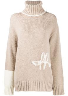Off-White intarsia-knit logo jumper