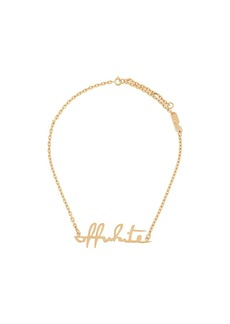 Off-White lettering logo necklace