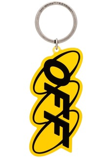 Off-White logo print keyring