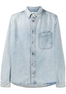 Off-White logo-print long-sleeve denim shirt