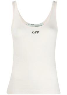 Off-White logo print sleeveless top