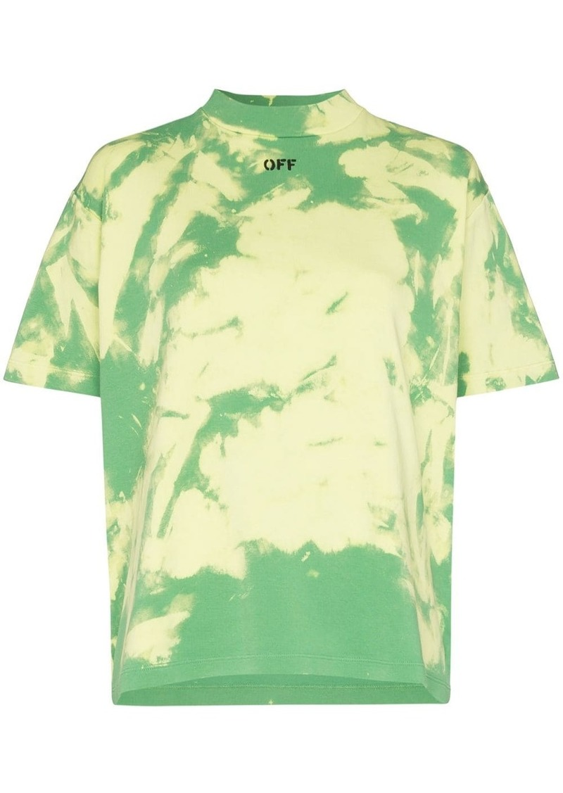 Off-White logo-print tie-dyed T-shirt