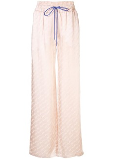 Off-White logo signature wide-leg trousers