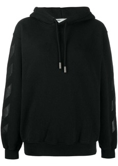 Off-White logo drawstrings hoodie