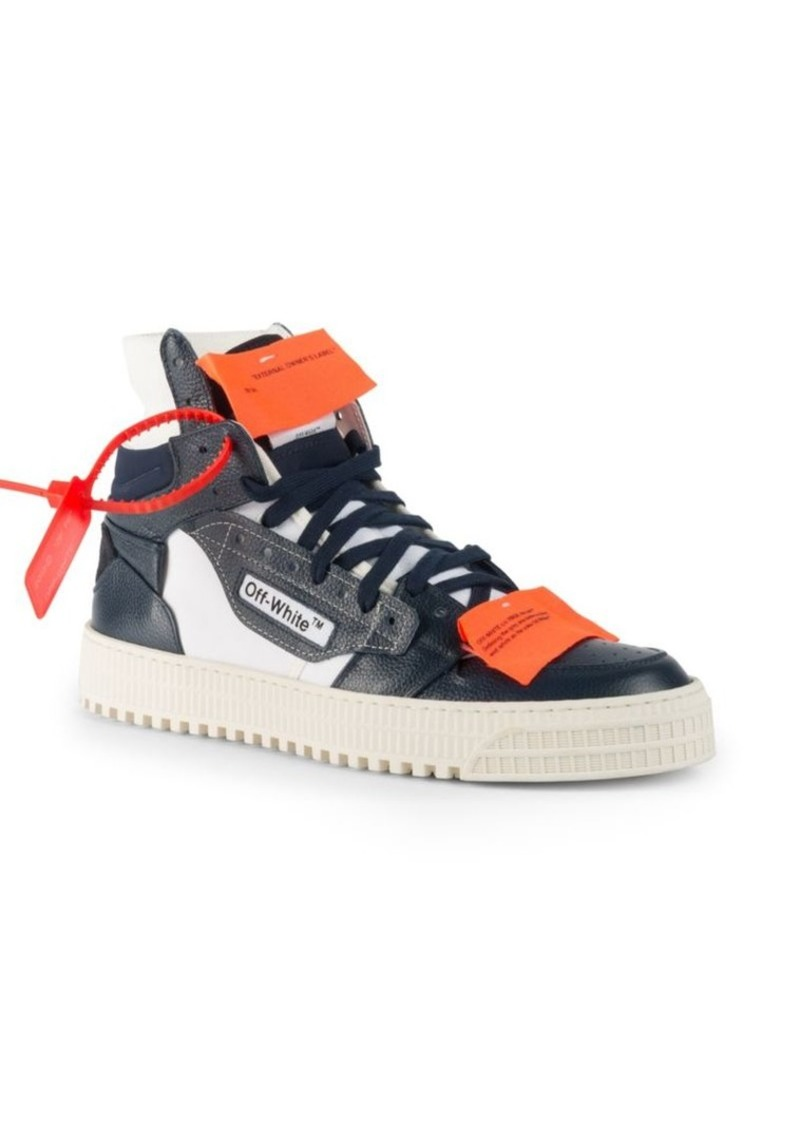 Off-White Off-Court Tumbled Leather Sneakers