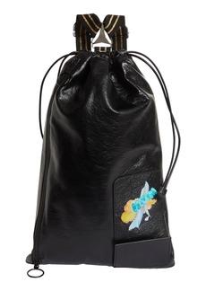 Men's Andre Walker X Off-White Suspender Leather Bag - Black