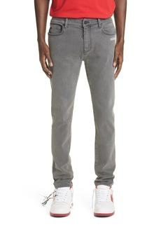 Men's Off-White Logo Skinny Fit Jeans
