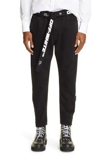 Men's Off-White Slim Fit Low Crotch Jeans