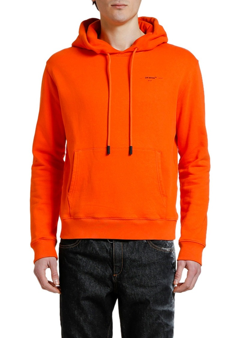 Off-White Men's Slim Hoodie Sweatshirt with Small Logo Print