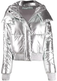 Off-White metallic puffer jacket