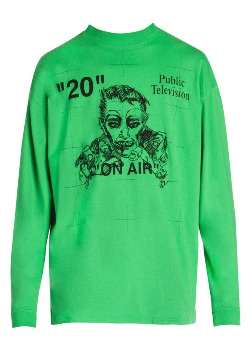 Mirko Artist Long Sleeve Cotton T Shirt