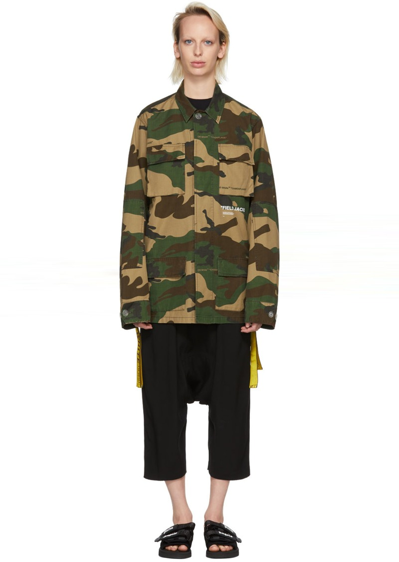 f286b258ff619 Off-White Multicolor Camouflage Field Jacket | Outerwear