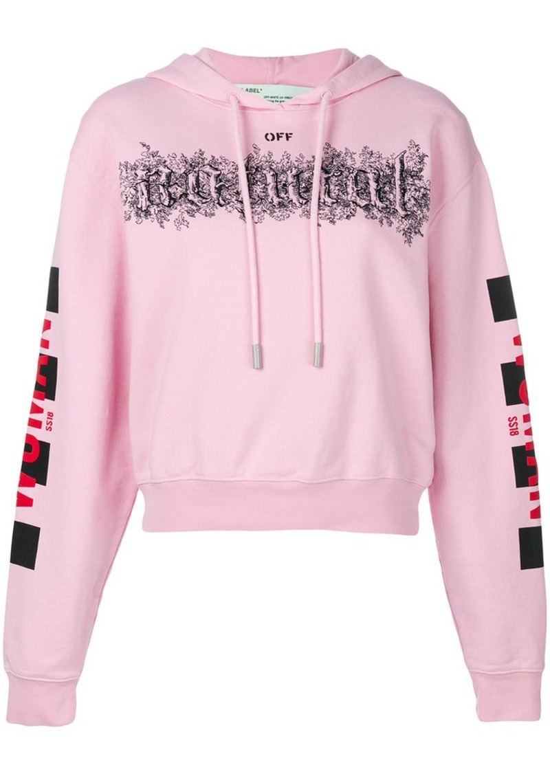 6f46edc7c84d Off-White natural cropped hoodie