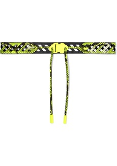 Off-White Neon Snake-effect Leather Belt