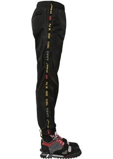 Off-White Nylon Track Pants W/ Logo Band