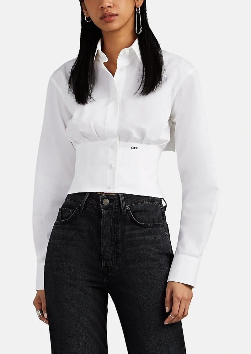 fc0693a9a40 Off-White Off - White c/o Virgil Abloh Women's Cotton Faille Crop Corset