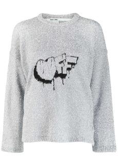 Off-White Off crew neck jumper