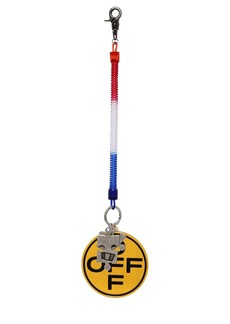 Off-White Off Cross Bungee Key Ring