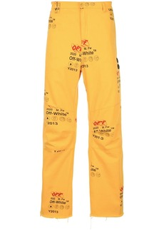 Off-White OFF printed jeans