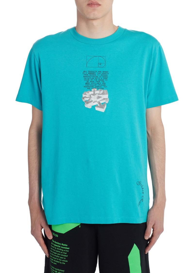 Off-White Arrows Graphic Short Sleeve Slim T-Shirt
