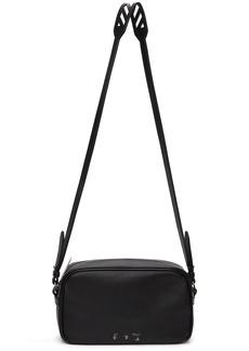 Off-White Black Leather Logo Shoulder Bag