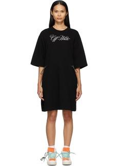 Off-White Black Logo Coulisse Dress