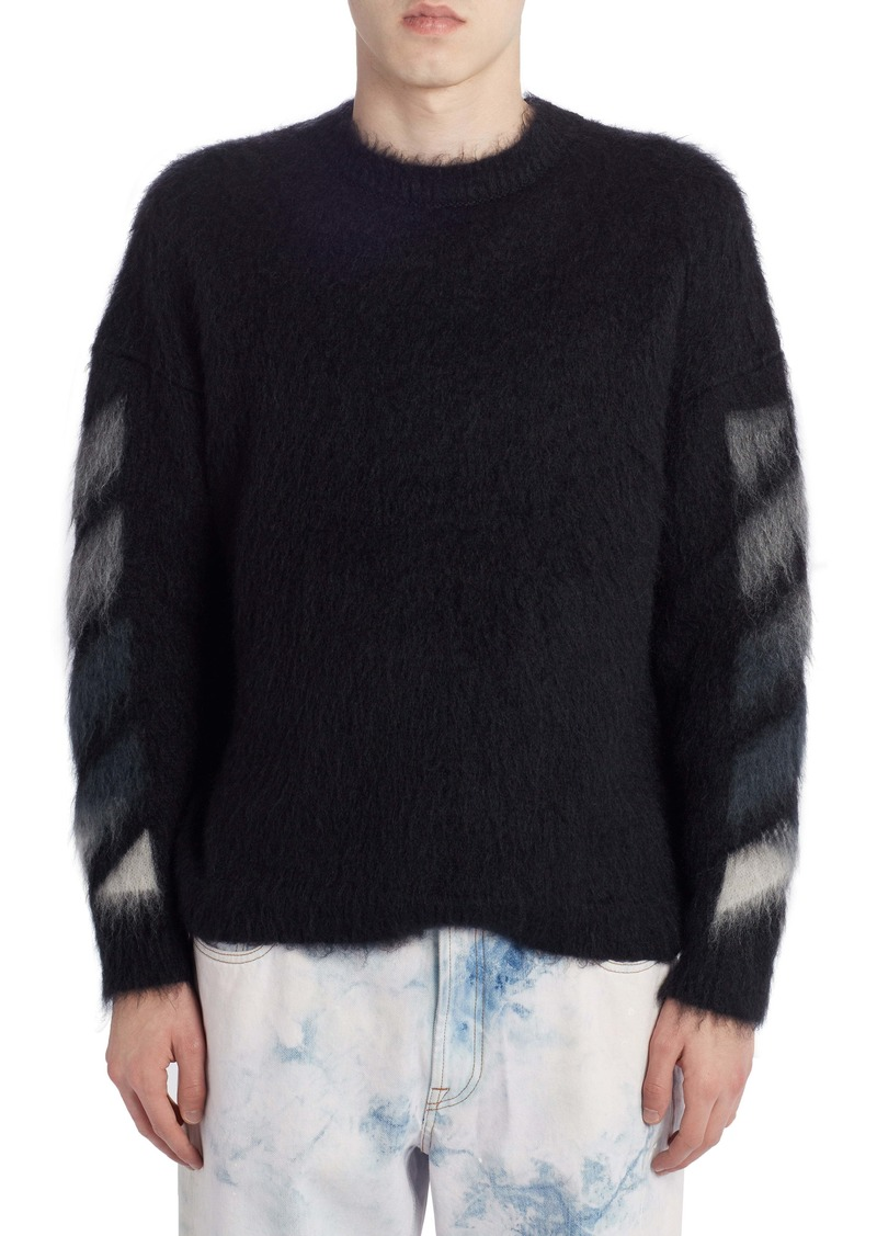 Off-White Brushed Mohair Blend Sweater