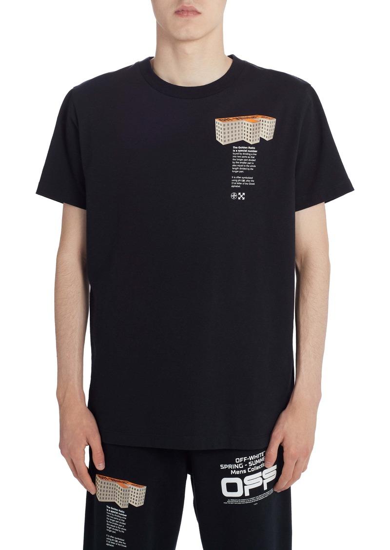 Off-White Building Short Sleeve Slim T-Shirt