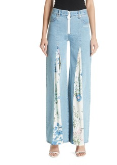 Off-White Central Pleat Jeans (Medium Blue)