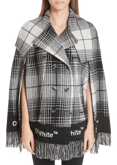 Off-White Check Blanket Cape