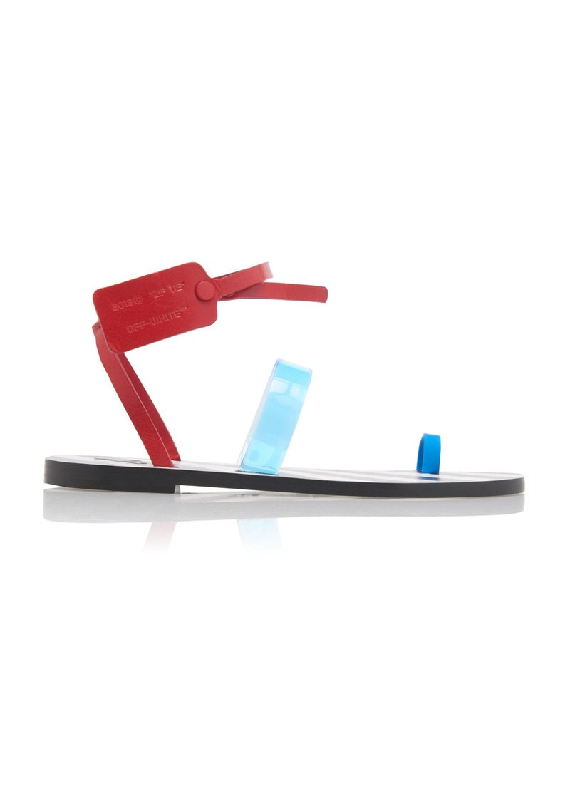 Off-White c/o Virgil Abloh Capri Color-Blocked Leather And PVC Sandals