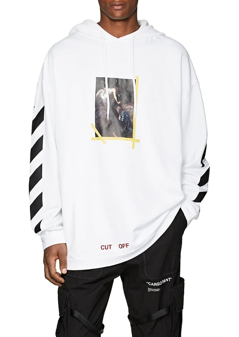 53c11bb6428b Off-White Off - White c o Virgil Abloh Men s Annunciation Cotton Terry  Hoodie