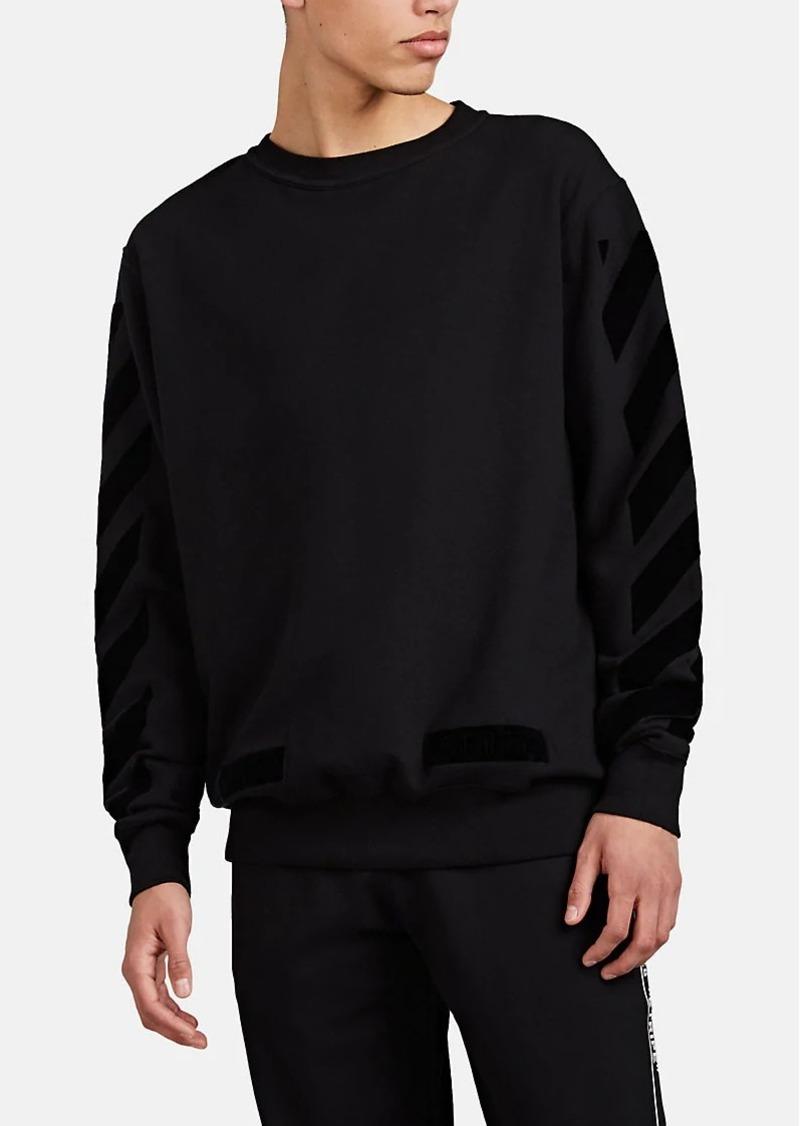 65795c62d Off-White c/o Virgil Abloh Men's Logo-Flocked Cotton Fleece Crewneck  Sweatshirt