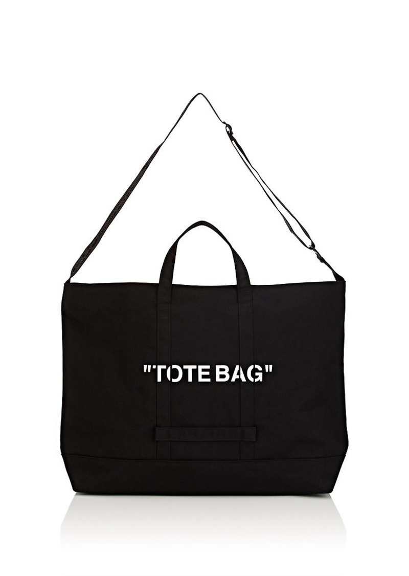 820b6a92ca9e Off-White Off-White c o Virgil Abloh Men s Oversized Canvas Tote Bag ...
