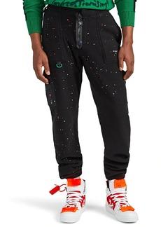Off-White c/o Virgil Abloh Men's Paint Splatter Fleece Climber Pants