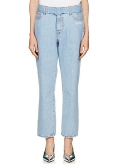 Off-White c/o Virgil Abloh Women's Belted Crop Jeans