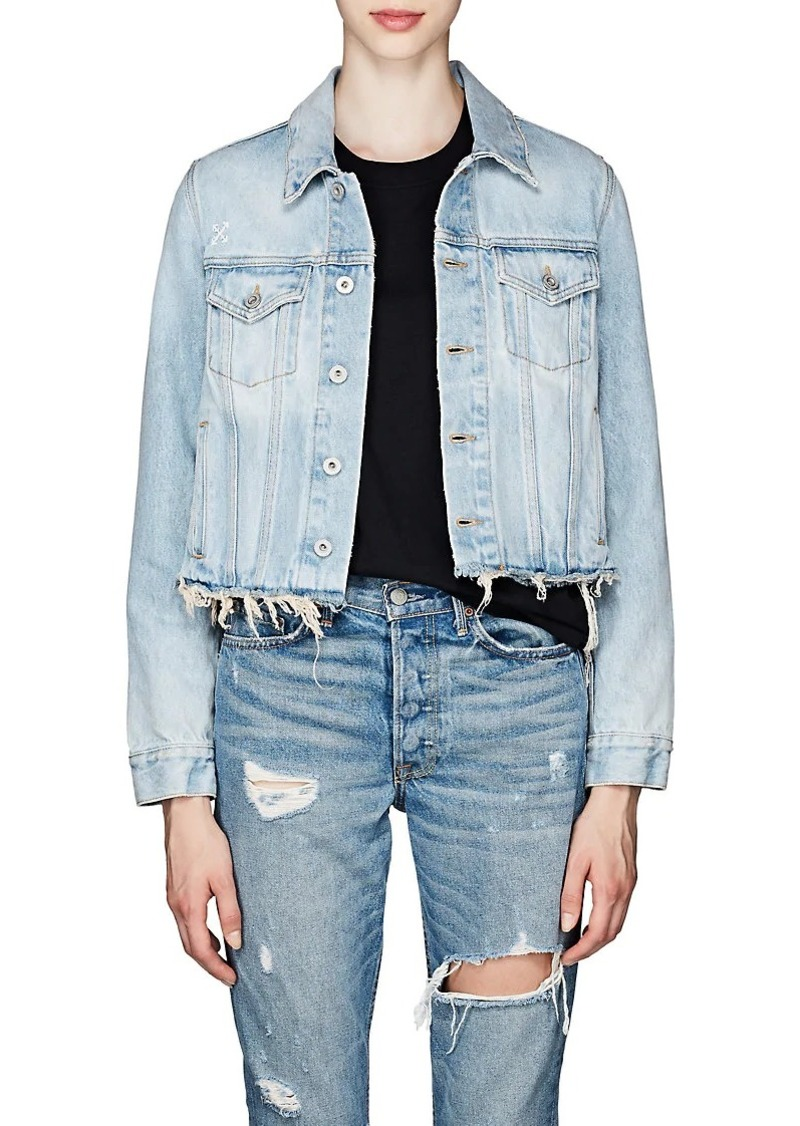 Off-White c/o Virgil Abloh Women's Distressed Denim Trucker Jacket