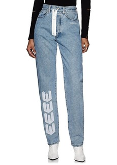 Off-White c/o Virgil Abloh Women's Embroidered Straight Jeans